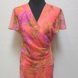 NWT Sheri Martin New York Petite Cocktail Dress 4P